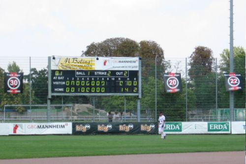 Das Scoreboard nach dem ersten Spiel